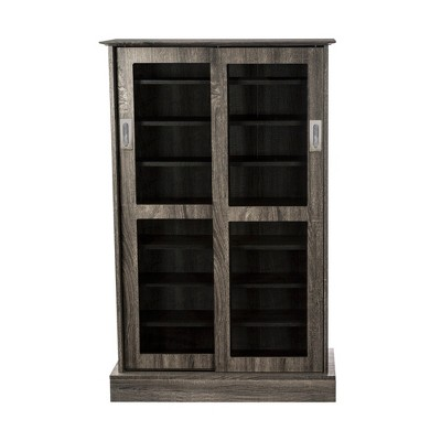 Driffield Media Storage Cabinet Charcoal Gray - Atlantic
