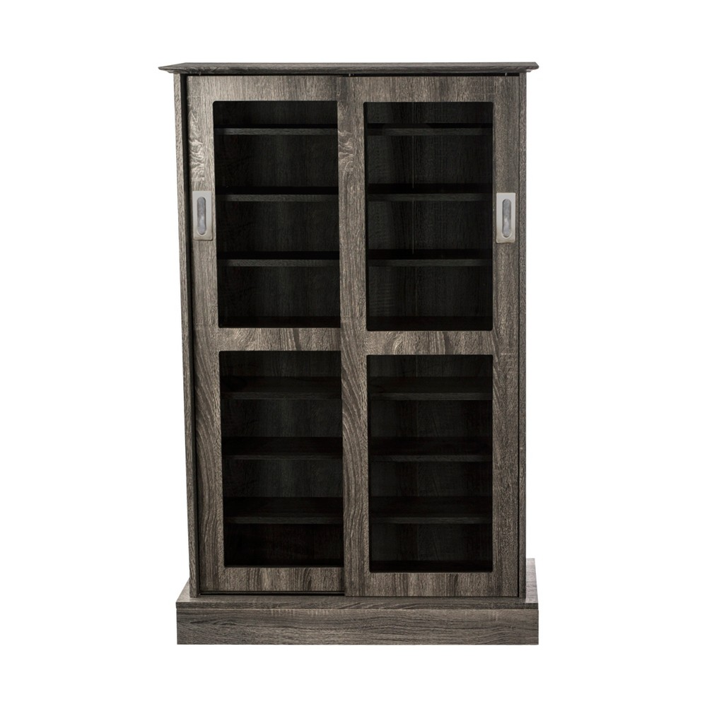 Image of Driffield Media Storage Cabinet Charcoal Gray - Atlantic