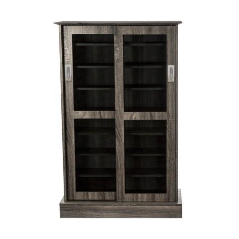 Driffield Media Storage Cabinet Charcoal Gray - Atlantic - image 1 of 4