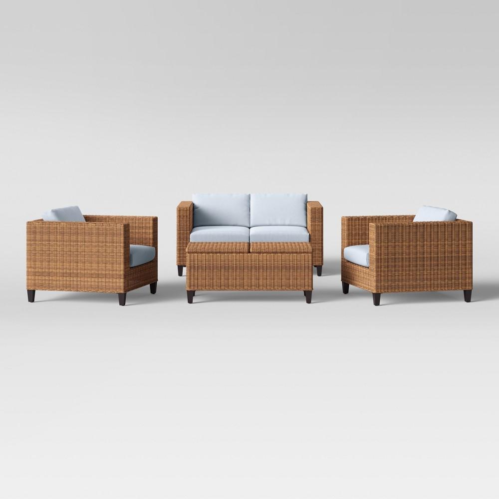 Fullerton 4pc Patio Conversation Set - Chambray - Project 62