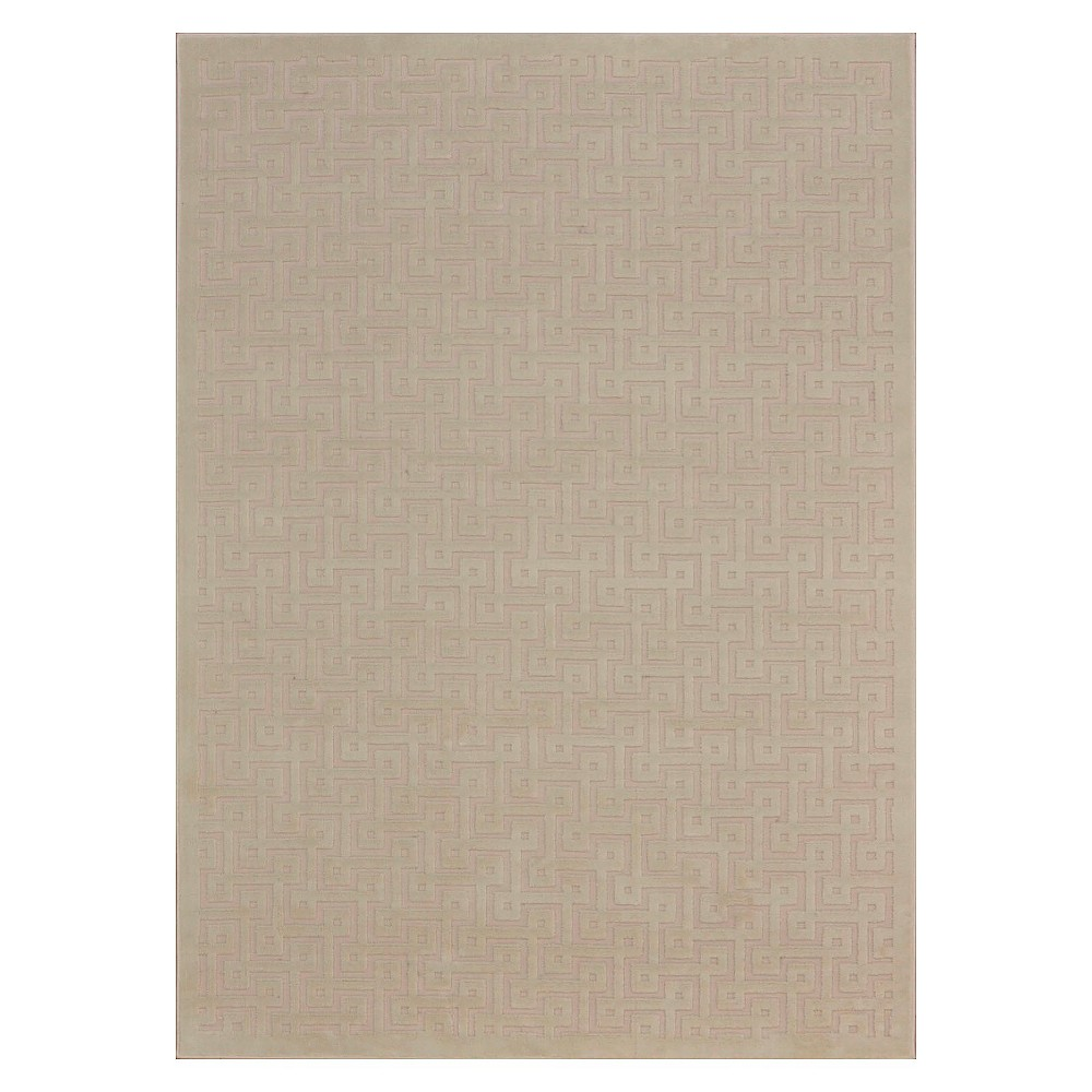 """Image of """"Nourison Geometric Ladder Ultima Accent Rug - Ivory (2'2""""""""X3'9"""""""")"""""""