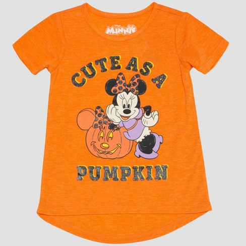 54c80fabd8f Toddler Girls  Mickey Mouse   Friends Minnie Mouse Short Sleeve T-Shirt -  Orange