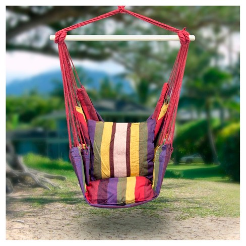 Sorbus Hanging Rope Hammock Chair Swing Seat For Any Indoor Or