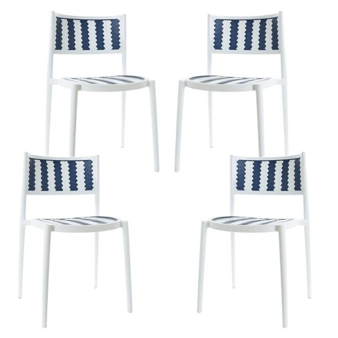 Set of 4 Jeremiah Indoor / Outdoor Dining Chair Gray - Poly & Bark - image 1 of 4
