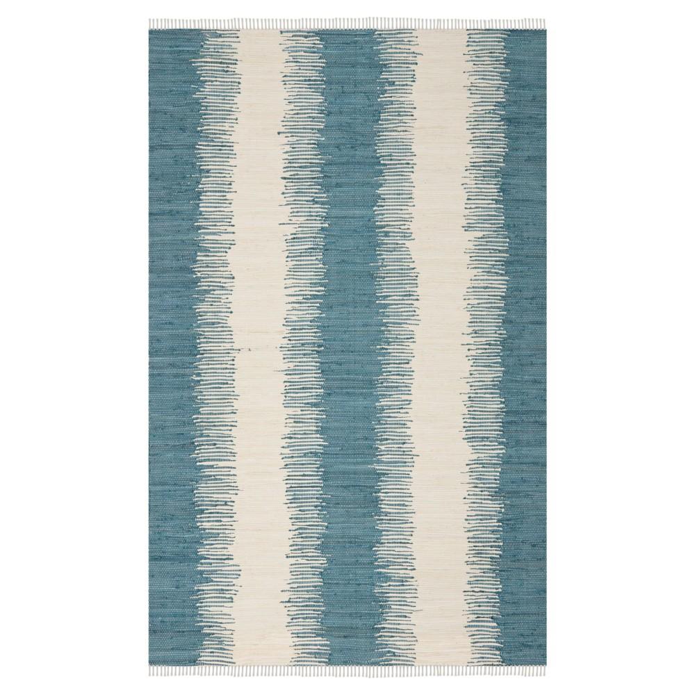 Flatweave Ikat Stripe Area Rug - Blue (9'x12') - Safavieh