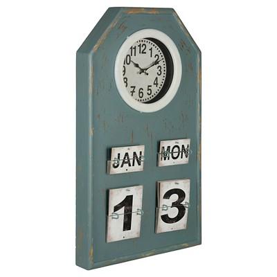 Venda Calendar Wall Clock Blue Patina - Cooper Classics®