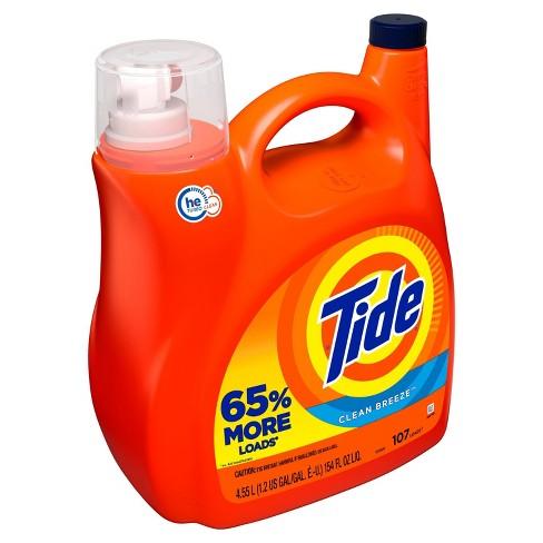 Tide Liquid Laundry Detergent - Clean Breeze - 154 fl oz - image 1 of 3