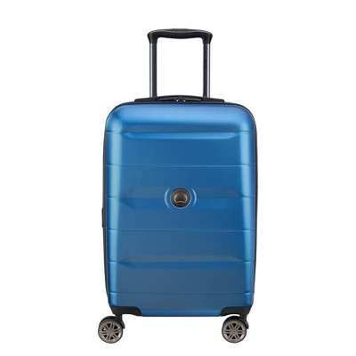 "DELSEY Paris Comete 2.0 19"" Expandable Spinner Carry On Suitcase - Steel Blue"