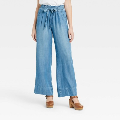 Women's Mid-Rise Tie-Waist Wide Leg Pants - Knox Rose™