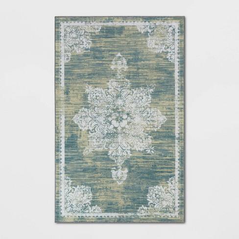5'X7' Everson Medallion Digital Print Area Rug Blue - Simply Shabby Chic® - image 1 of 3