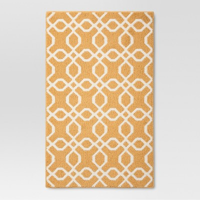 1'8 x2'10  Trellis Accent Rug Yellow - Threshold™