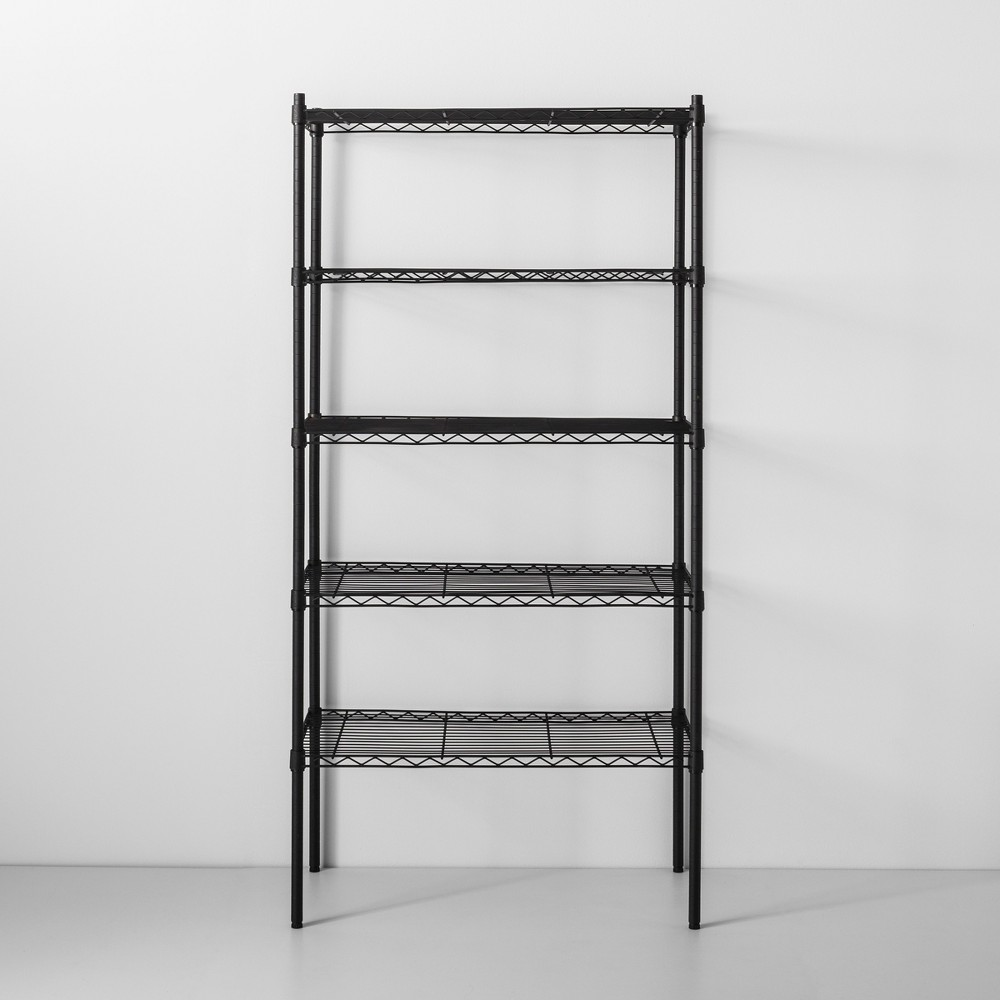 Image of 5 Tier Wire Shelf Black - Made By Design