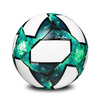 Adidas MLS Glider Size 5 Soccer Ball - White/Green