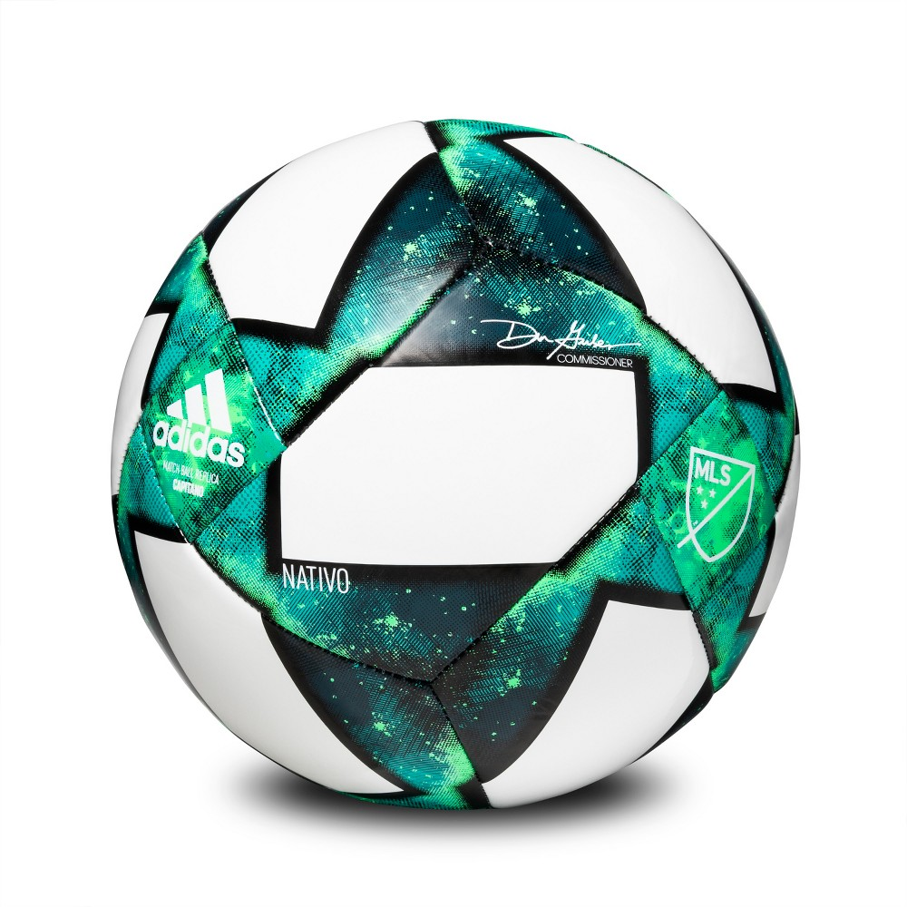 Adidas Mls Glider Size 5 Soccer Ball - White/Green