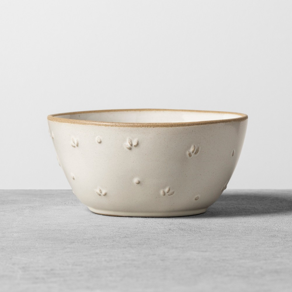 Image of Textured Floral Mini Bowl Sour Cream - Hearth & Hand with Magnolia, White