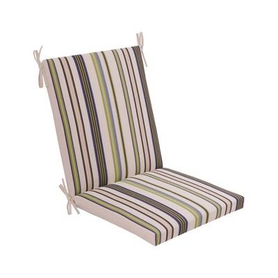 Outdoor Woven Chair Cushion DuraSeason Fabric™ Green Stripe - Threshold™