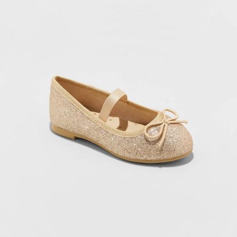 Toddler Girls' American Girl Lusela Ballet Flats - Cat & Jack™ Bright Gold - image 1 of 3
