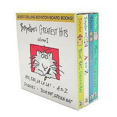 Boynton's Greatest Hits: Moo, Baa, La La La; A to Z; Doggies; Blue Hat, Green Hat (Volume 1)Boxed Set (Board Book)by Sandra Boynton