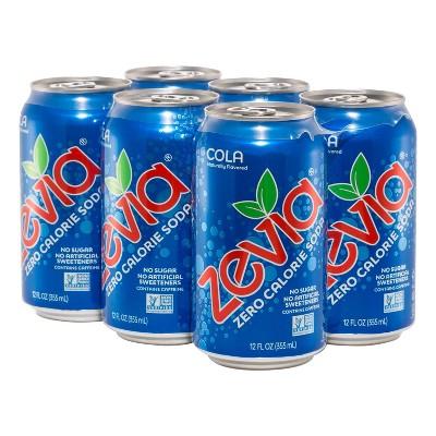 Zevia Cola Zero Calorie Soda - 6pk/12 fl oz Cans