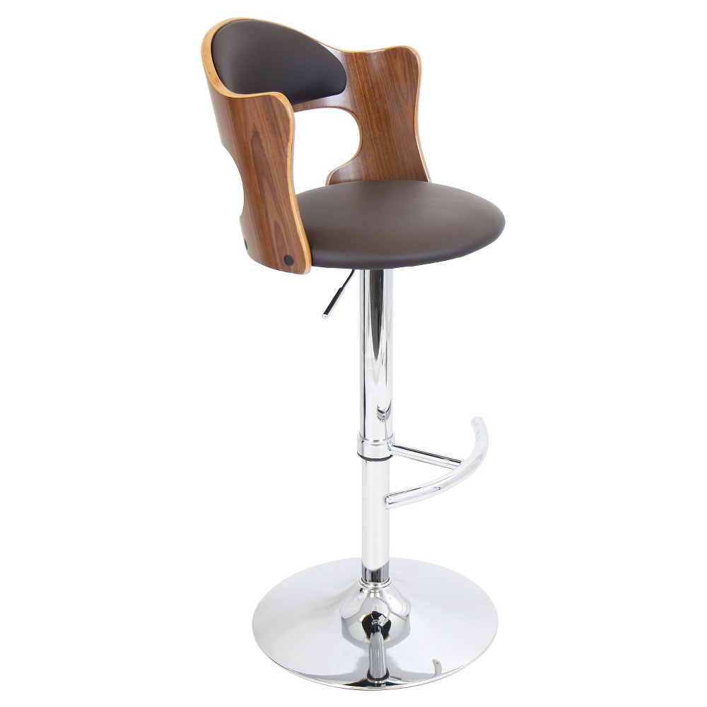 Cello 31.5 Barstool Metal/Walnut/Brown - LumiSource