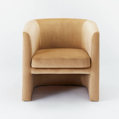 Vernon Upholstered Barrel Accent Chair Tan - Threshold™ designed with Studio McGee