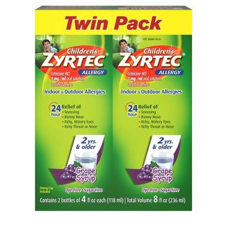 Children's Zyrtec Allergy Relief Liquid - Grape - Cetirizine HCl - 4 fl oz/2ct
