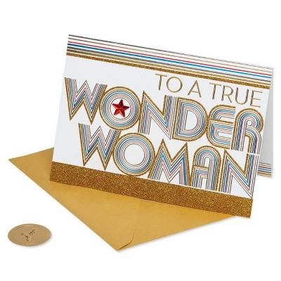 'Wonder Woman' Lettering Card - PAPYRUS