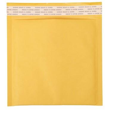 "MyOfficeInnovations CD Bubble Mailer Gold Kraft Peel and Seal Strip 7-1/4"" x 8"" 12/PK 483986"