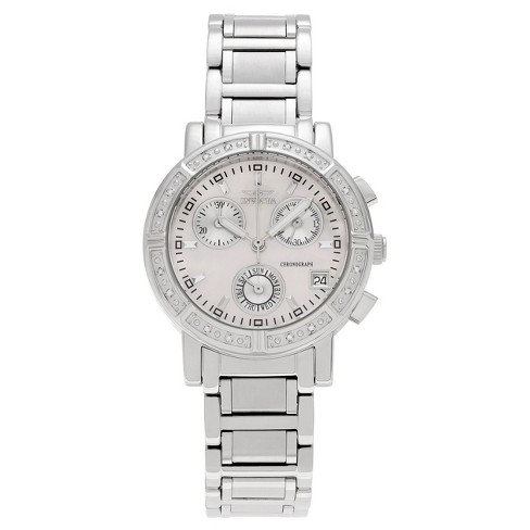 Silver Diamond Link Of CtTdw 4718 Accent Mother Wildflower Women's Invicta Pearl Watch Dial 110 wPXZulkTOi
