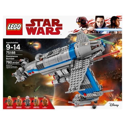 Lego Star Wars The Last Jedi Resistance Bomber 75188 Target