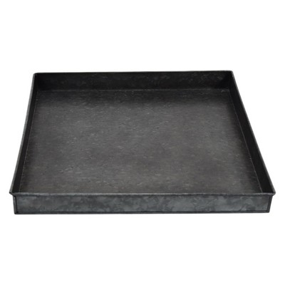 16  Iron Galvanized Tray - Black - Smith & Hawken™
