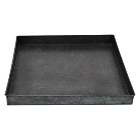 "Galvanized Iron Tray - 1.5"" - Black - Smith & Hawken™ - image 1 of 3"
