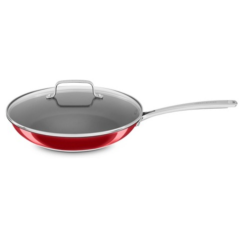 """KitchenAid 12"""" Stainless Steel Nonstick Skillet with Lid - KC2S12KN - image 1 of 2"""