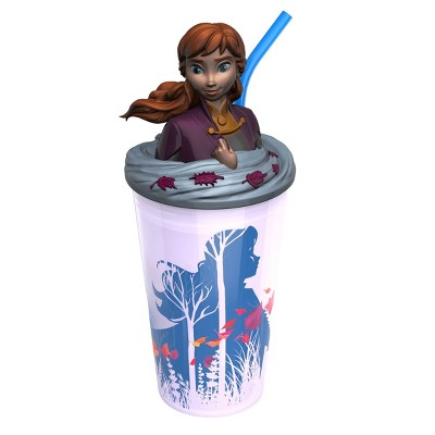 Frozen 2 Anna 15oz Plastic Funtastic Tumbler with Straw Purple - Zak Designs