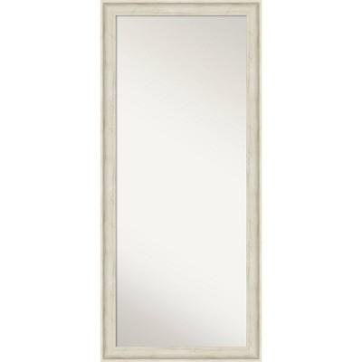 "29"" x 65"" Regal Framed Full Length Floor/Leaner Mirror Birch Cream - Amanti Art"
