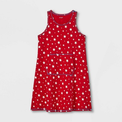 Girls' Adaptive Abdominal Access 4th of July Dress - Cat & Jack™ Red