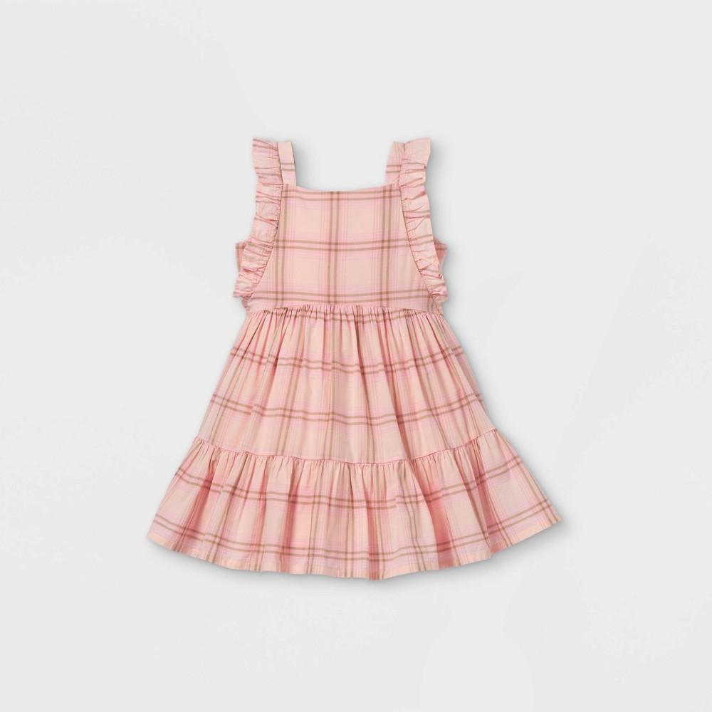 Oshkosh B 39 Gosh Toddler Girls 39 Tank Plaid Tiered Dress Pink 3t