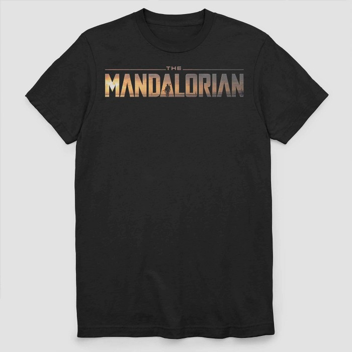 Men's Star Wars Mandalorian Short Sleeve Graphic T-Shirt - Black - image 1 of 2