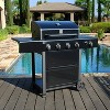 Kenmore 4 Burner Open Cart Grill with Side Burner PG-40406S0L-1 Stainless Steel and Black - image 3 of 4