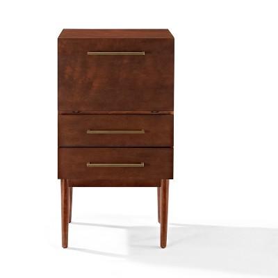 Everett Spirit Cabinet - Mahogany - Crosley