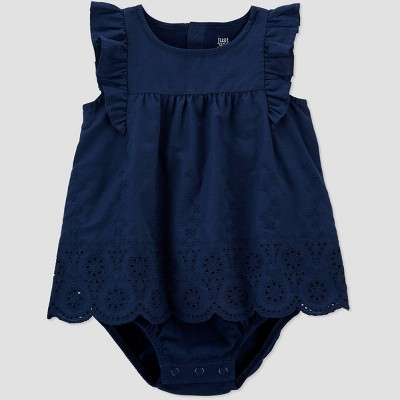 Baby Girls' Sunsuit Romper - Just One You® made by carter's Navy