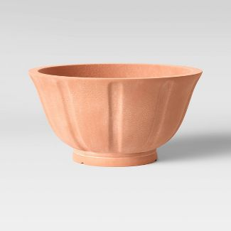 "12"" Concrete Footed Bowl Terracotta - Smith & Hawken™"