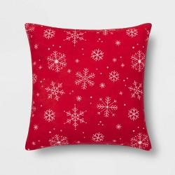 Printed Snowflake Square Throw Pillow - Wondershop™