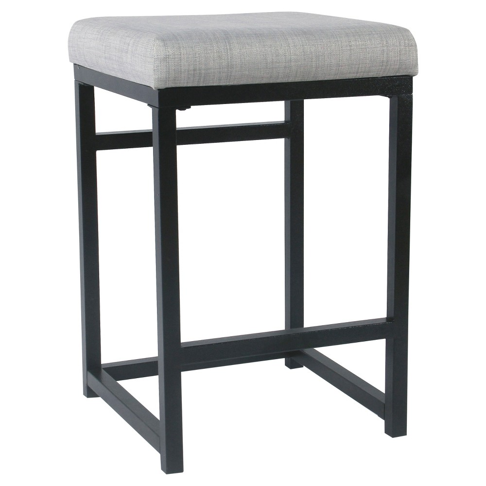 Open Back Metal Counter Stool Light Gray - HomePop was $84.99 now $63.74 (25.0% off)