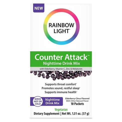 Rainbow Light Counter Attack Nighttime Drink Mix - 10ct - image 1 of 4