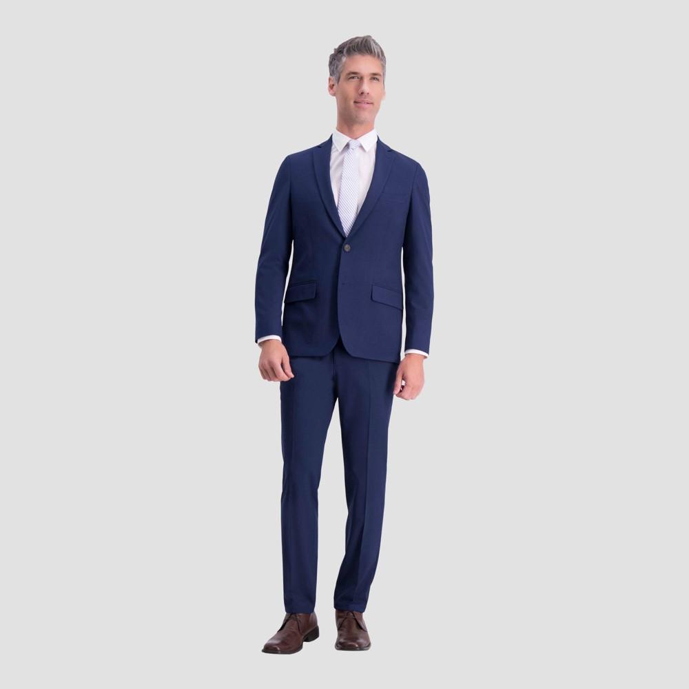 Haggar H26 Men S Slim Fit Premium Stretch Suit Jacket Bright Blue 38 Long