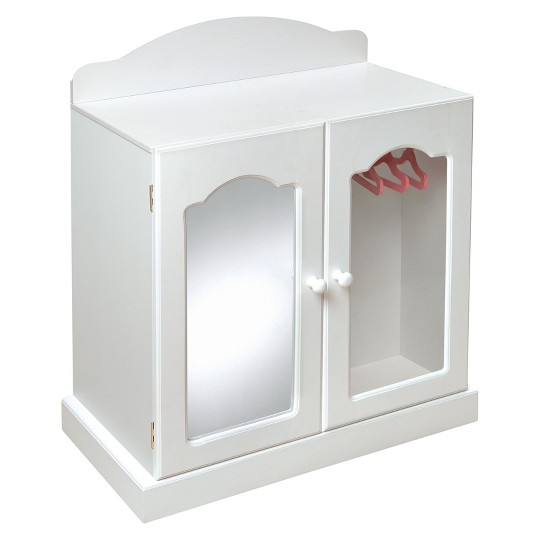 Badger Basket Mirrored Doll Armoire with Baskets image number null