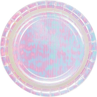 24ct Iridescent Party Dessert Plates