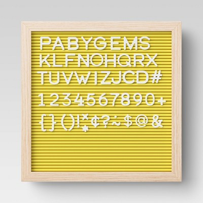 """12""""x 12"""" Letter Board Yellow - Room Essentials™"""