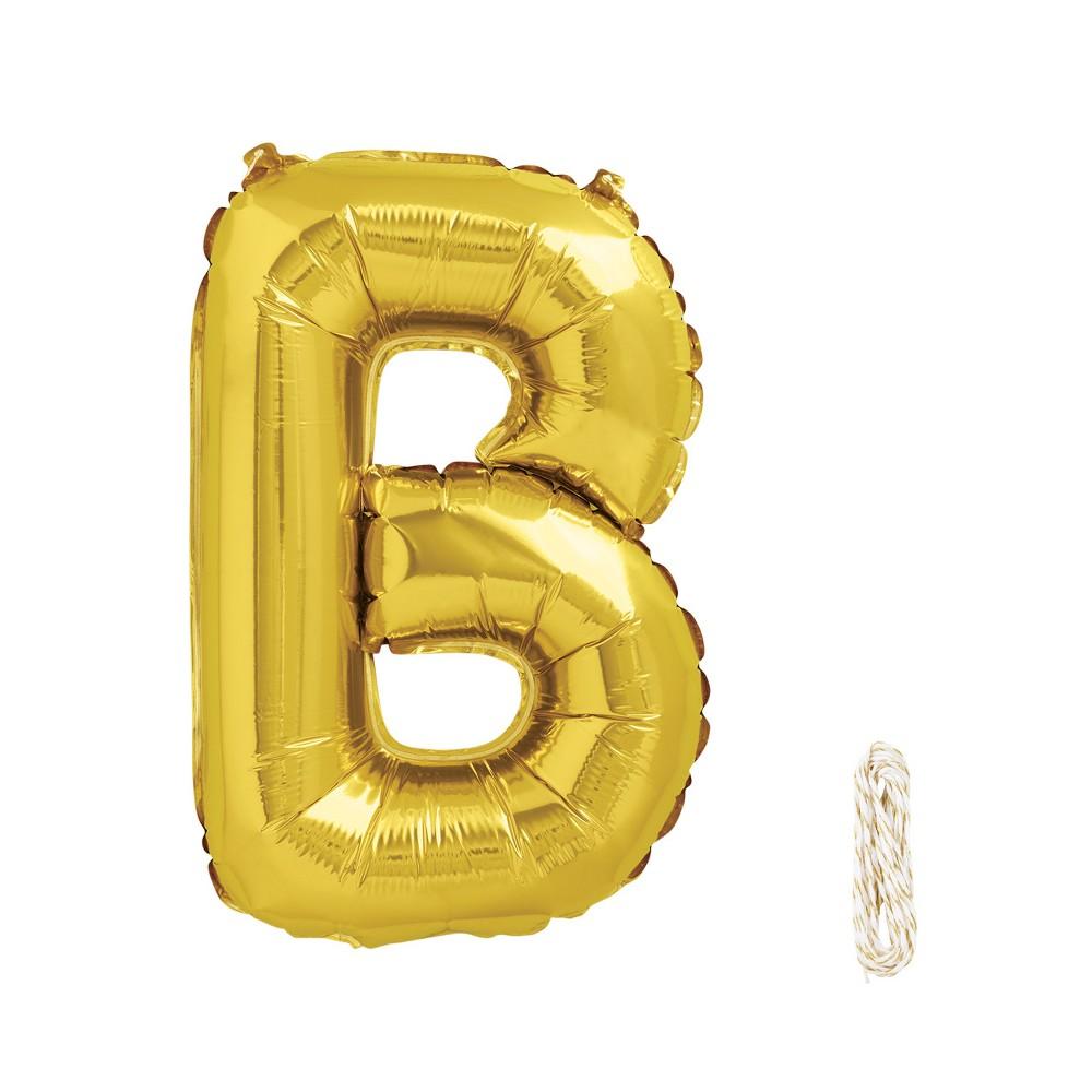 "Image of ""16"""" B Foil Balloon Gold - Spritz , Kids Unisex"""